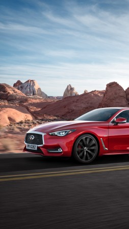 Infiniti Q 60 S 3.0t, Chicago auto show 2016, Hybrid, red (vertical)