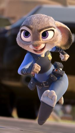 Zootopia, judy hopps, rabbit, Best Animation Movies of 2016, cartoon (vertical)