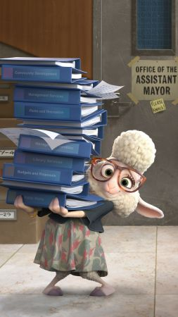 Zootopia, lamb Bellwether, Best Animation Movies of 2016, cartoon (vertical)