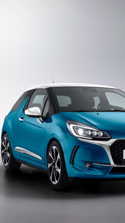 DS 3, Geneva Auto Show 2016, blue (vertical)