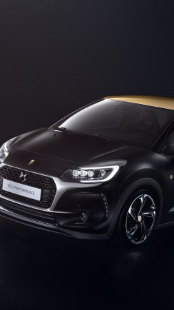 DS 3 Performance, Geneva Auto Show 2016, black (vertical)
