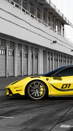 Mansory 4XX Siracusa, Geneva Auto Show 2016, sport car, yellow (vertical)