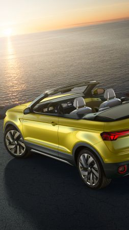 Volkswagen T-cross, Geneva Auto Show 2016, crossover, yellow (vertical)
