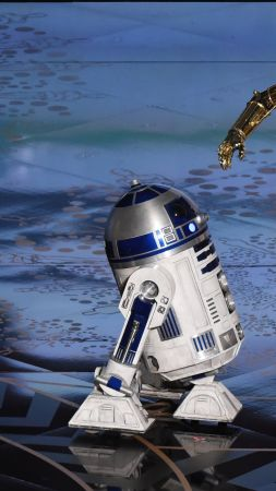 C-3PO, R2-D2, BB-8, Oscar 2016, Star Wars, Oscar (vertical)