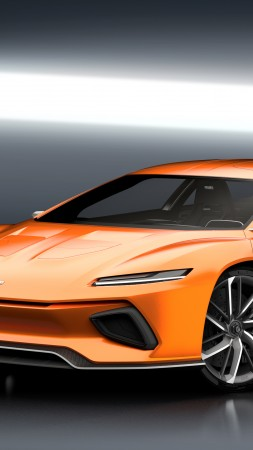 GT Zero, Geneva Auto Show 2016, Shuting break, electric cars, orange (vertical)