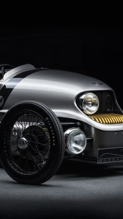 Morgan EV3 3 Wheeler, Geneva Auto Show 2016, electric car, review (vertical)