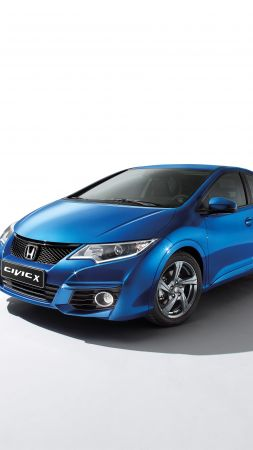 "Honda Civic ""X Edition"", Hatchback, Geneva Auto Show 2016, blue (vertical)"