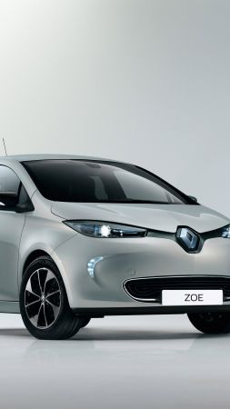 Renault Zoe Z.E., Swiss Edition, Geneva Auto Show 2016, electric car, silver (vertical)