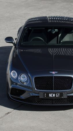 Bentley continental GT V8 S, Geneva Auto Show 2016, luxury car (vertical)