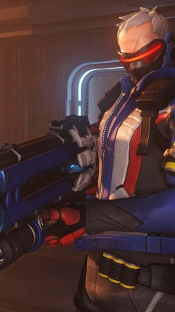 Soldier 76, HD, 4k, OVERWATCH (vertical)
