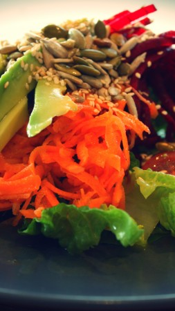 vegetarian, cooking, recipe, seeds, lettuce, avocado, carrot, beet, cherry tomatoes