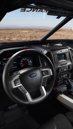 Ford F-150 Raptor, Race Truck, interior (vertical)