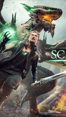 Scalebound, game, fantasy, archer, dragon, green, bow, sword, warrior, xbox, 4k, 5k, PC