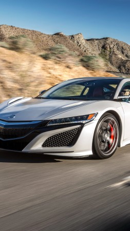 Acura NSX, supercar, hypercar, speed (vertical)