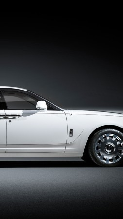 "Rolls-Royce Ghost ""Eternal Love"", luxury cars, white (vertical)"