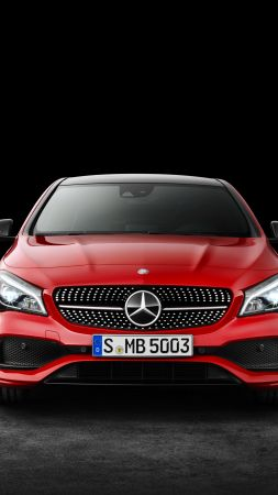 Mercedes-Benz CLA 200 d, 4MATIC AMG Line, NYIAS 2016, red (vertical)