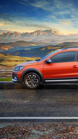Volkswagen Saveiro Cross CE, pickup, orange (vertical)