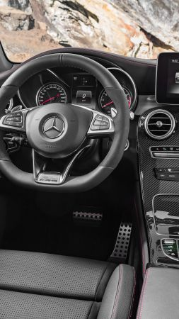 Mercedes-AMG GLC 43, 4MATIC (X253), NYIAS 2016, crossover, interior (vertical)