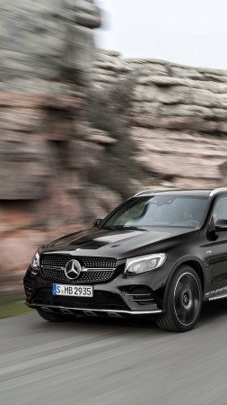 Mercedes-AMG GLC 43, 4MATIC (X253), NYIAS 2016, crossover, black
