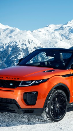 Range Rover Evoque Convertible, cabriolet, orange (vertical)