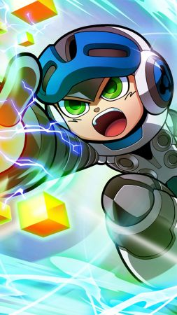 Mighty No. 9, platform, Mega Man, PC, PS4, Xbox One (vertical)