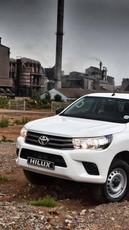 Toyota Hilux, 4x4, SRX, Double Cab, pickup, white (vertical)