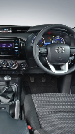 Toyota Hilux, 4x4, SRX, Double Cab, pickup, interior (vertical)