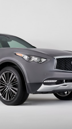 Infiniti QX70, NYIAS 2016, crossover, grey (vertical)