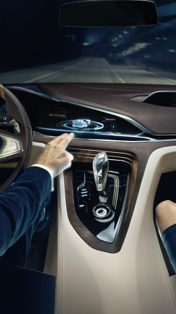 BMW Vision Future Luxury, 9 series, sedan, luxury cars, interior (vertical)