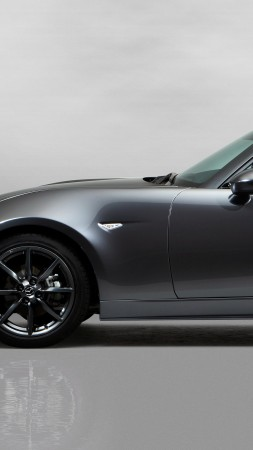 Mazda MX-5 RF, NYIAS 2016, roadster, silver (vertical)