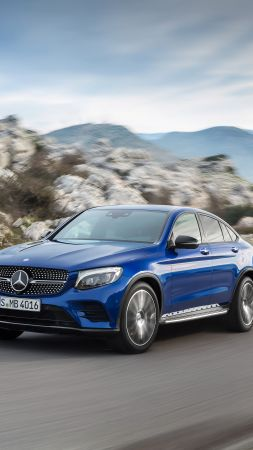 Mercedes-Benz Glc Amg Line, NYIAS 2016, blue (vertical)