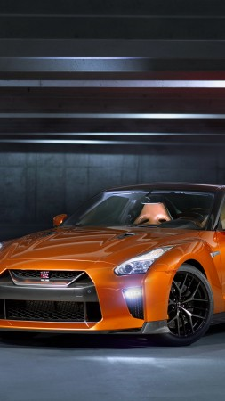 Nissan GT R, NYIAS 2016, supercar, orange (vertical)