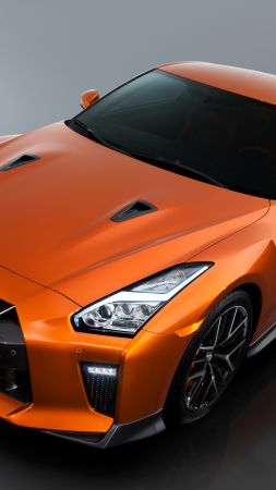 Nissan GTR, supercar, orange (vertical)