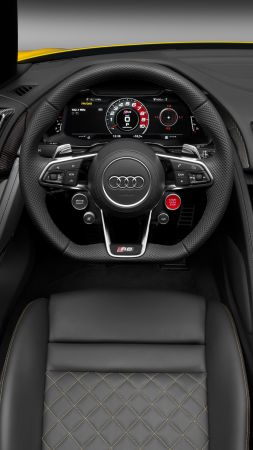 Audi R8, NYIAS 2016, supercar, interior (vertical)