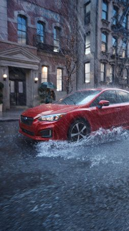 Subaru Impreza 2.0, NYIAS 2016, sedan, red (vertical)