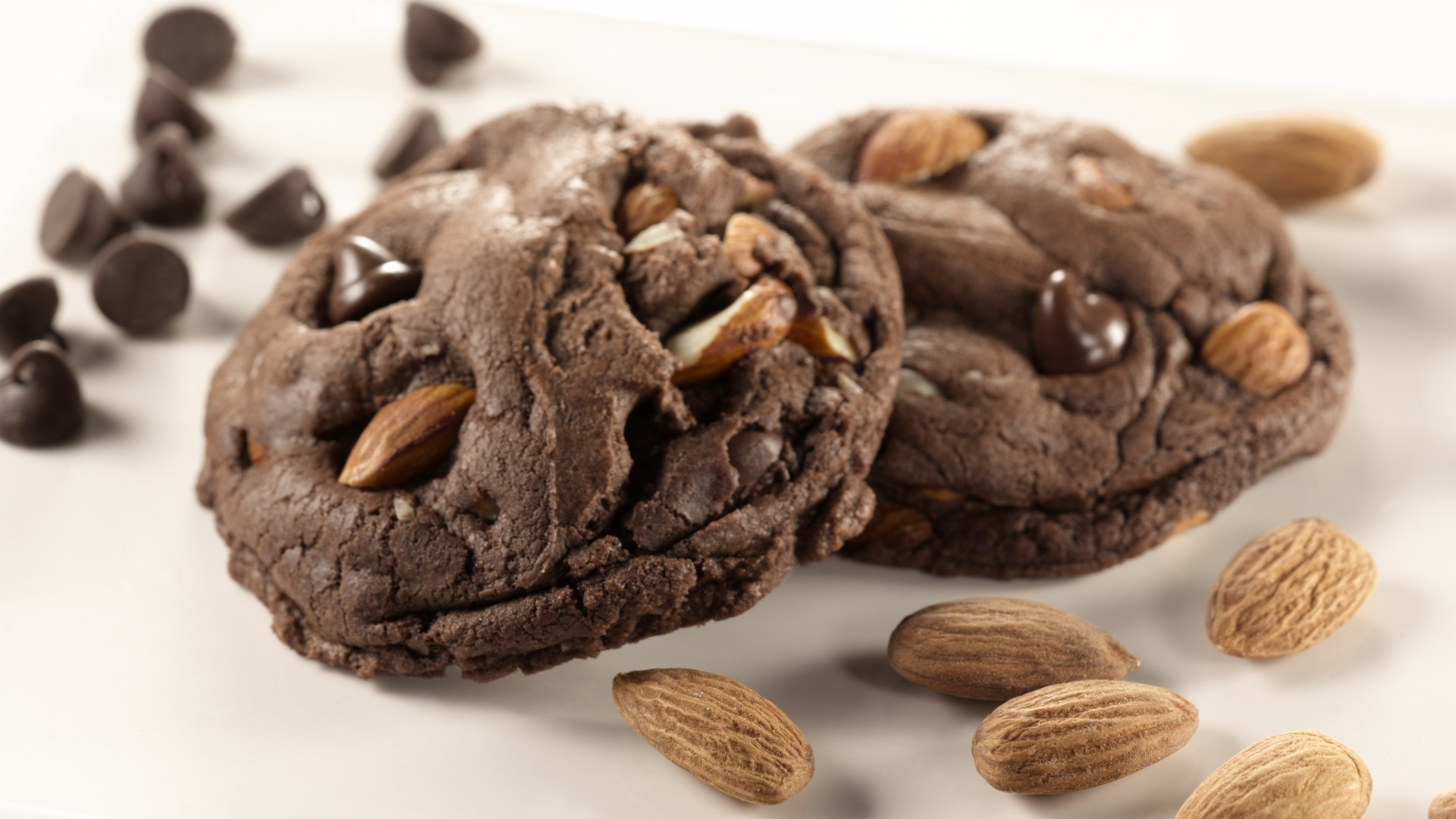 cookies, Chocolate, recipe, cooking, almonds (horizontal)