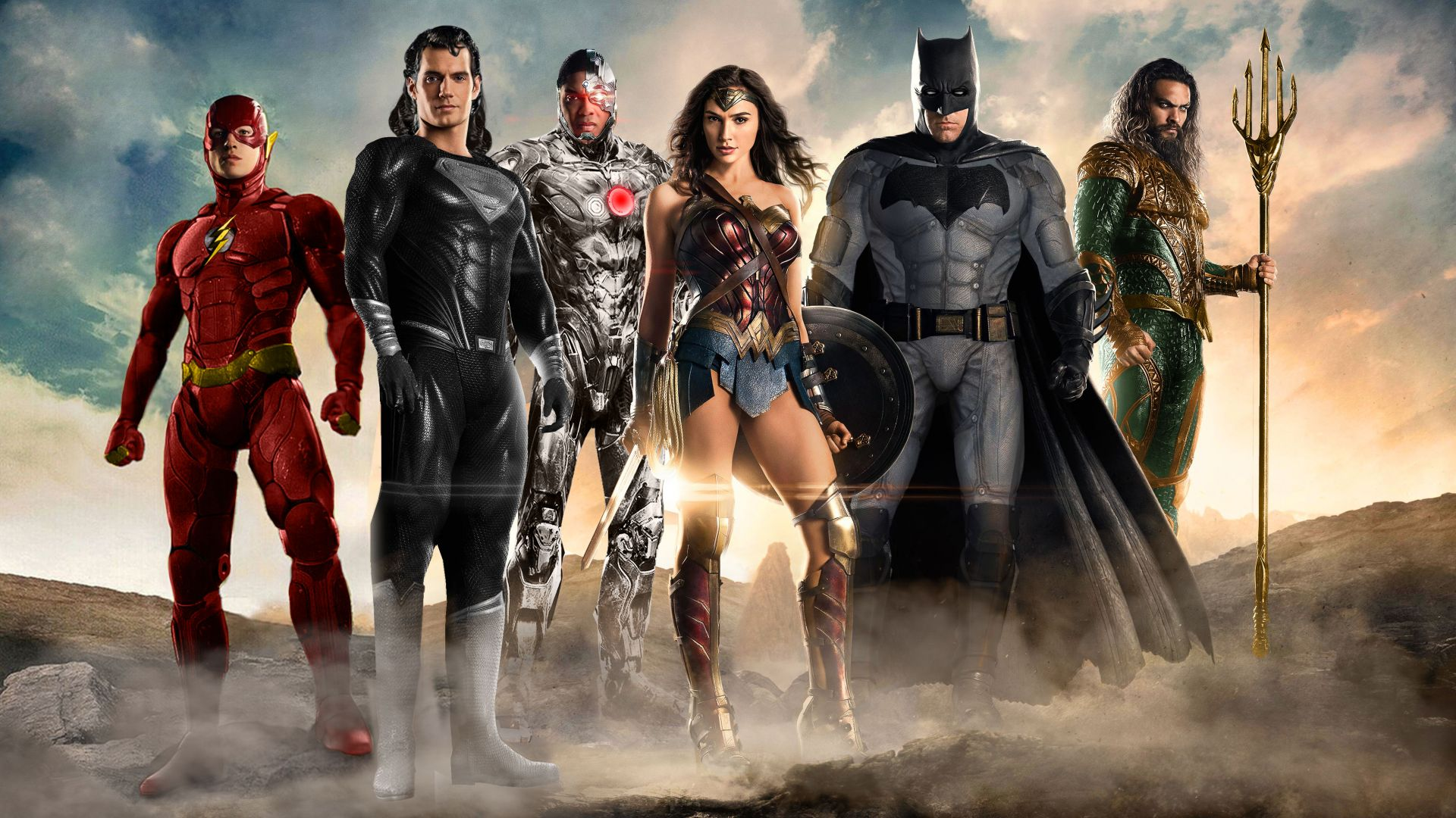 Justice League, superman, batman, Wonder woman, superhero (horizontal)
