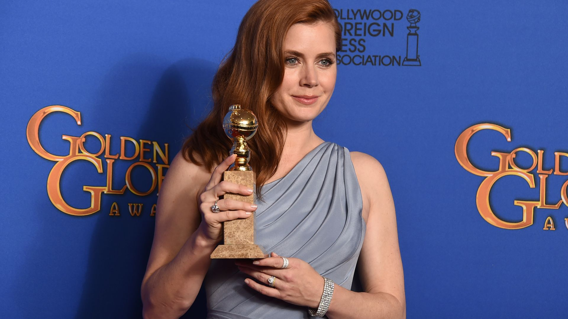 Amy Adams, Amy Lou Adams, Actress, enchanted, red hair, white, dress, princess (horizontal)