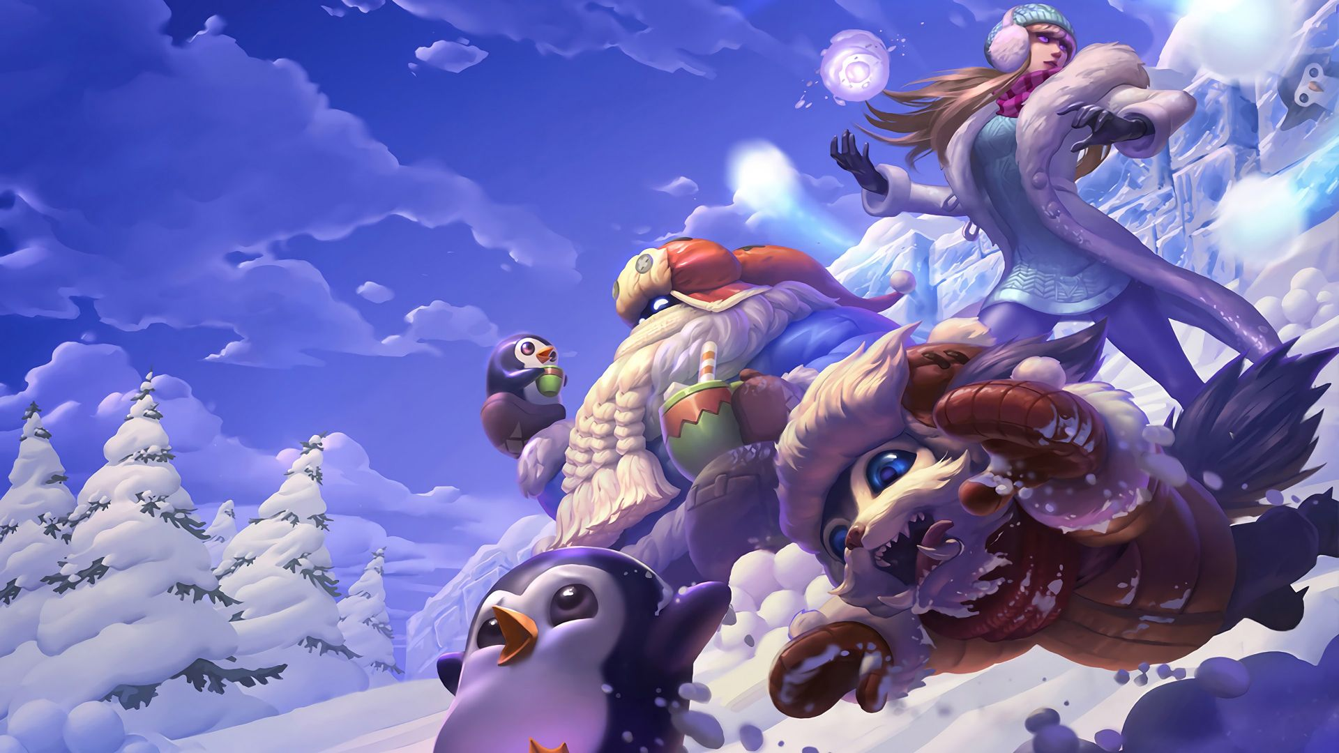 snow day, syndra bard, gnar splash, League of Legends, game, lol, MOBA (horizontal)