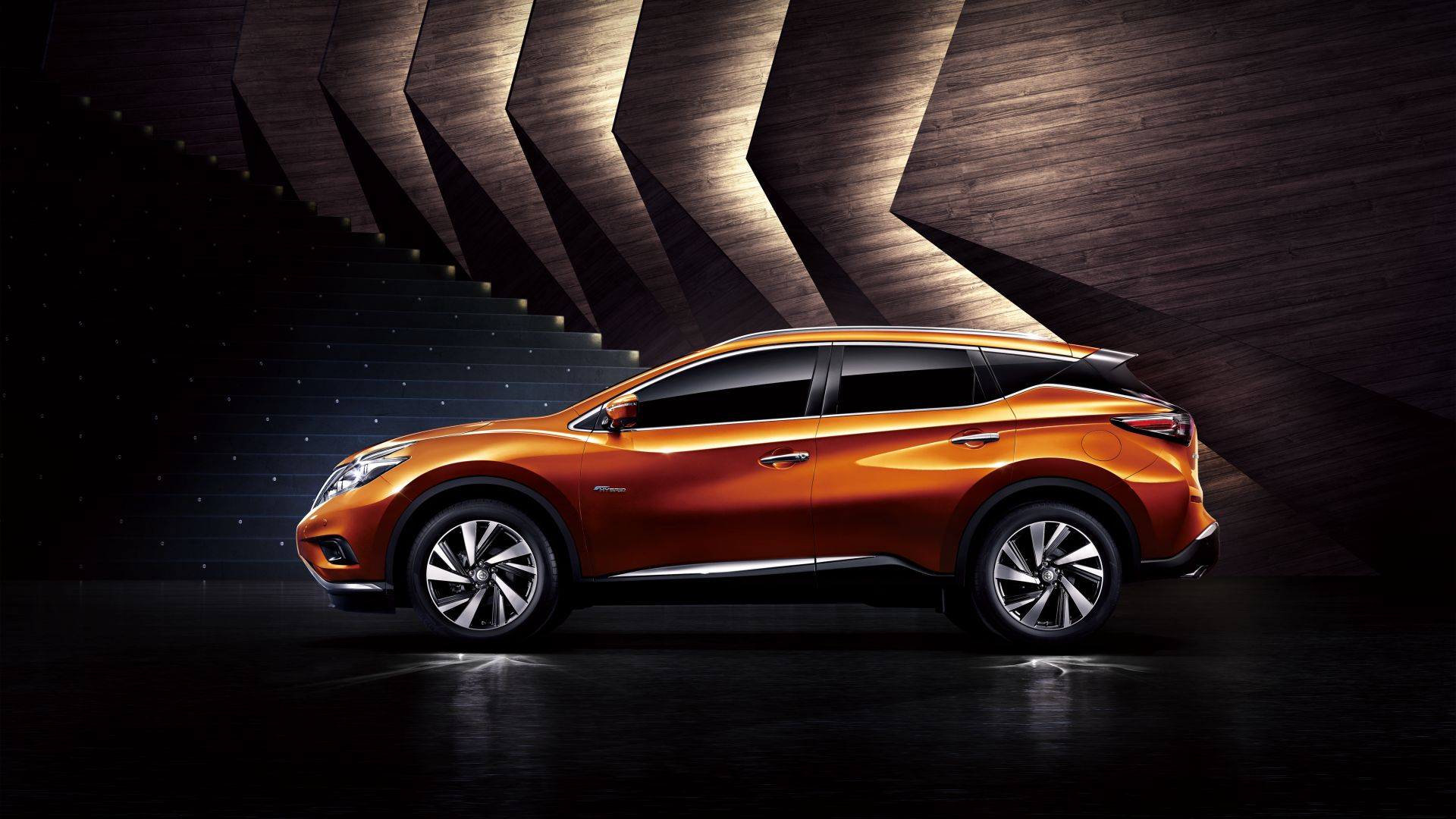 Nissan Murano, Hybrid, crossover, orange (horizontal)