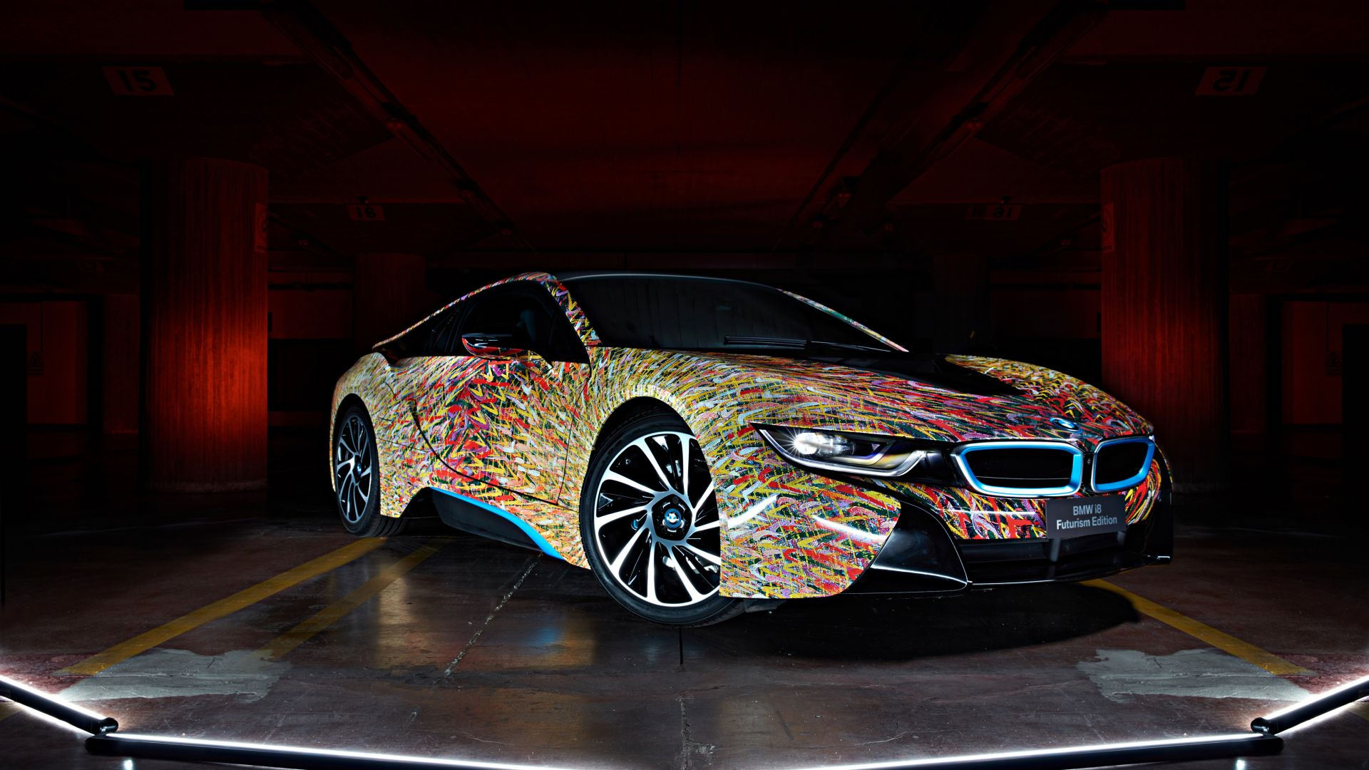 "BMW i8 ""Futurism Edition"", Garage Italia Customs, supercar (horizontal)"