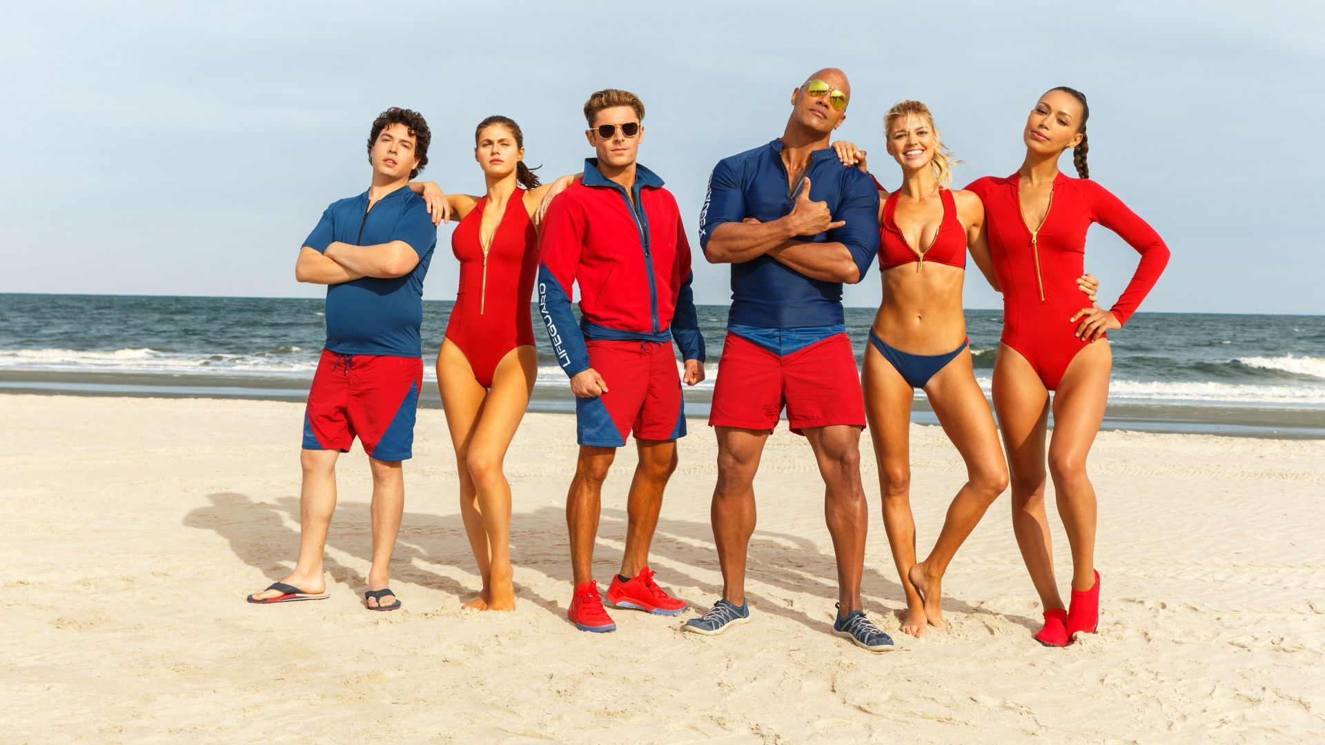 Baywatch, Dwayne Johnson, Zac Efron, Alexandra Daddario, best movies (horizontal)