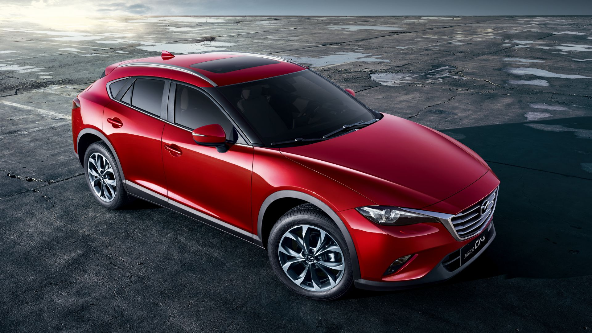 Mazda CX4, crossover, red (horizontal)