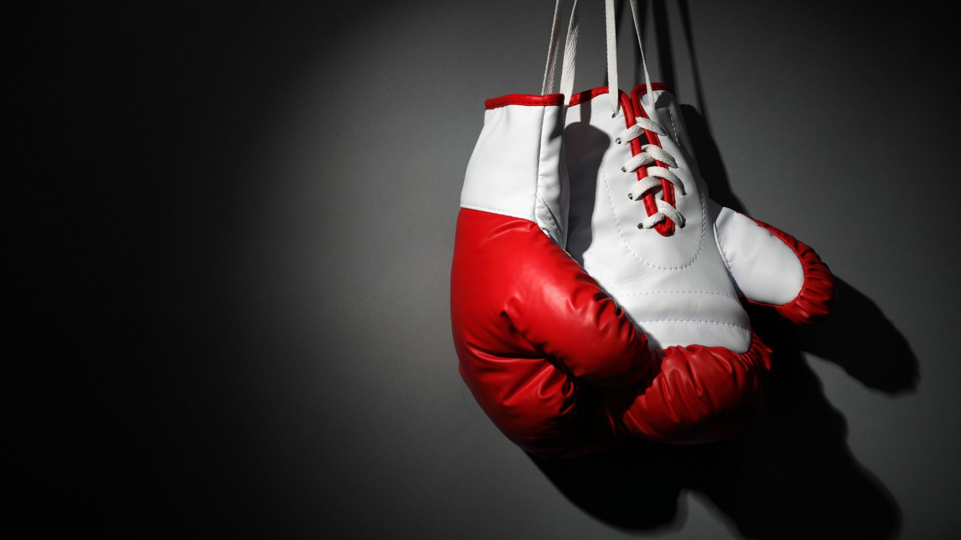 Boxing gloves, red, white, boxing (horizontal)