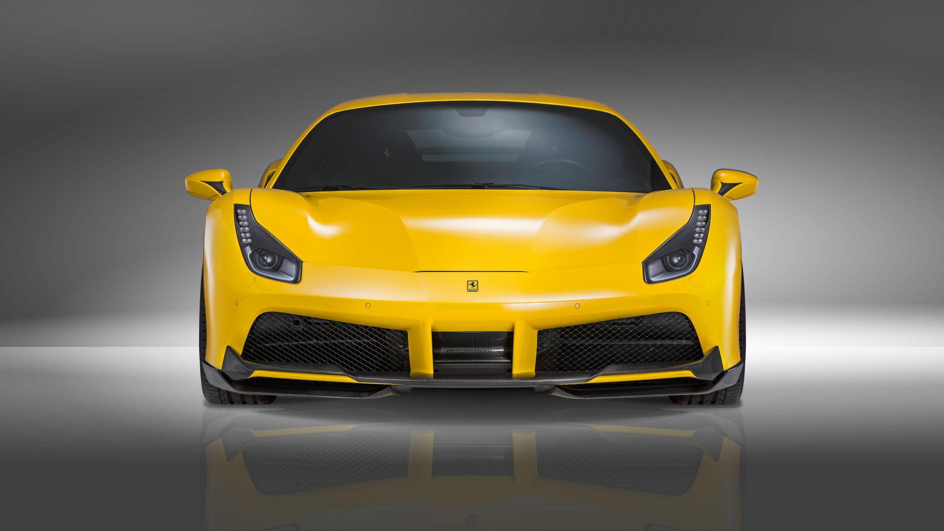 NOVITEC ROSSO Ferrari 488 gtb, supercar, yellow, speed (horizontal)