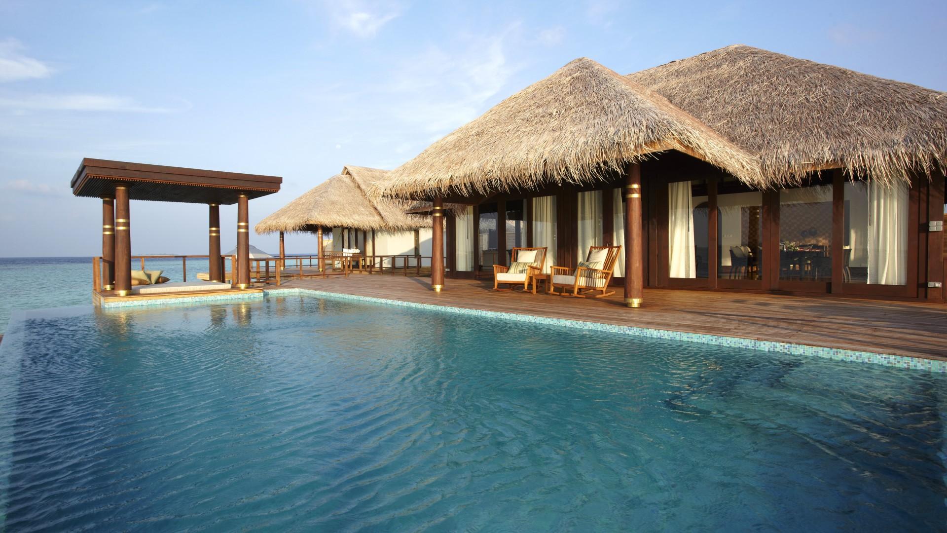 Anantara Kihavah Villas, Maldives, resort, pool, ocean, sea, water ...