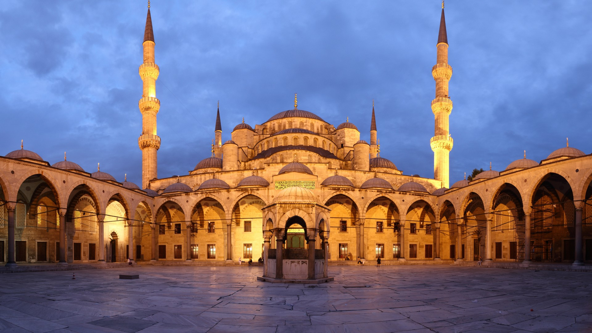 The Blue Mosque, Istanbul, travel, vacation, sky, booking, architecture (horizontal)