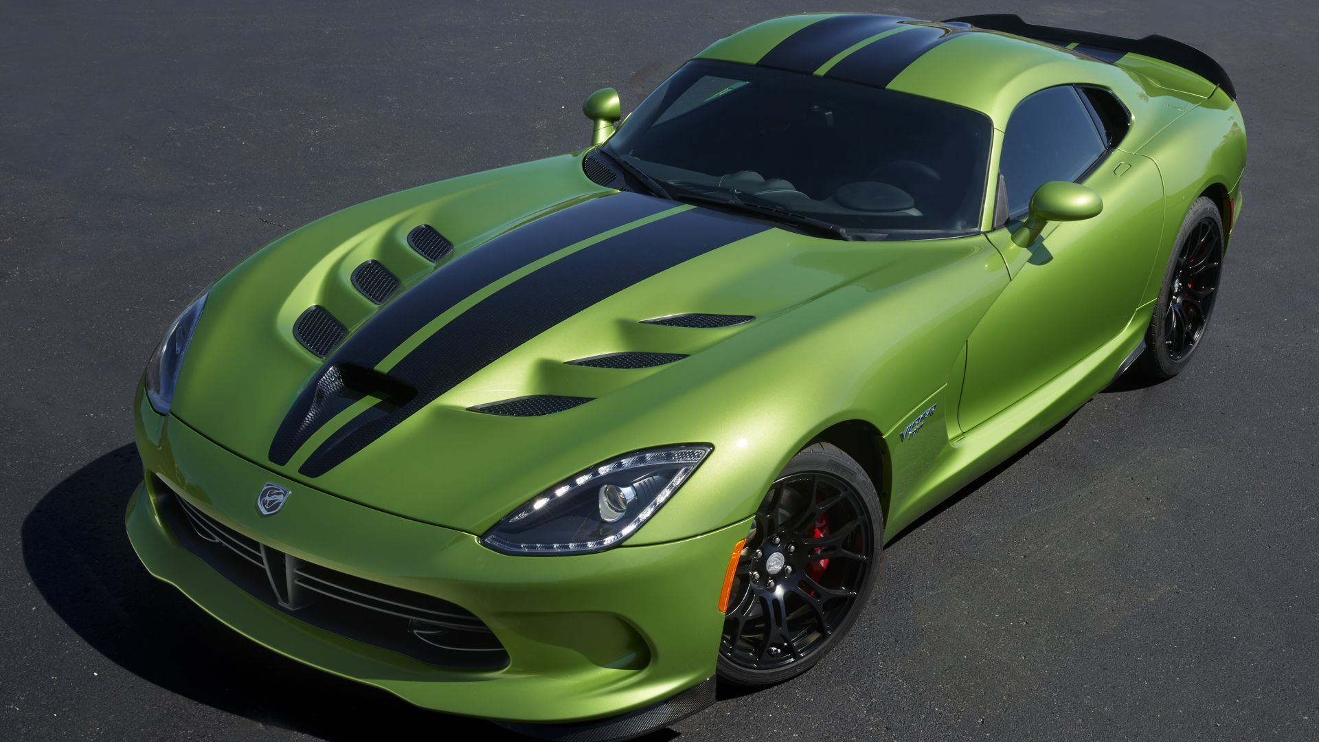 Dodge Viper GTS-R, Commemorative Edition ACR, green, speed (horizontal)