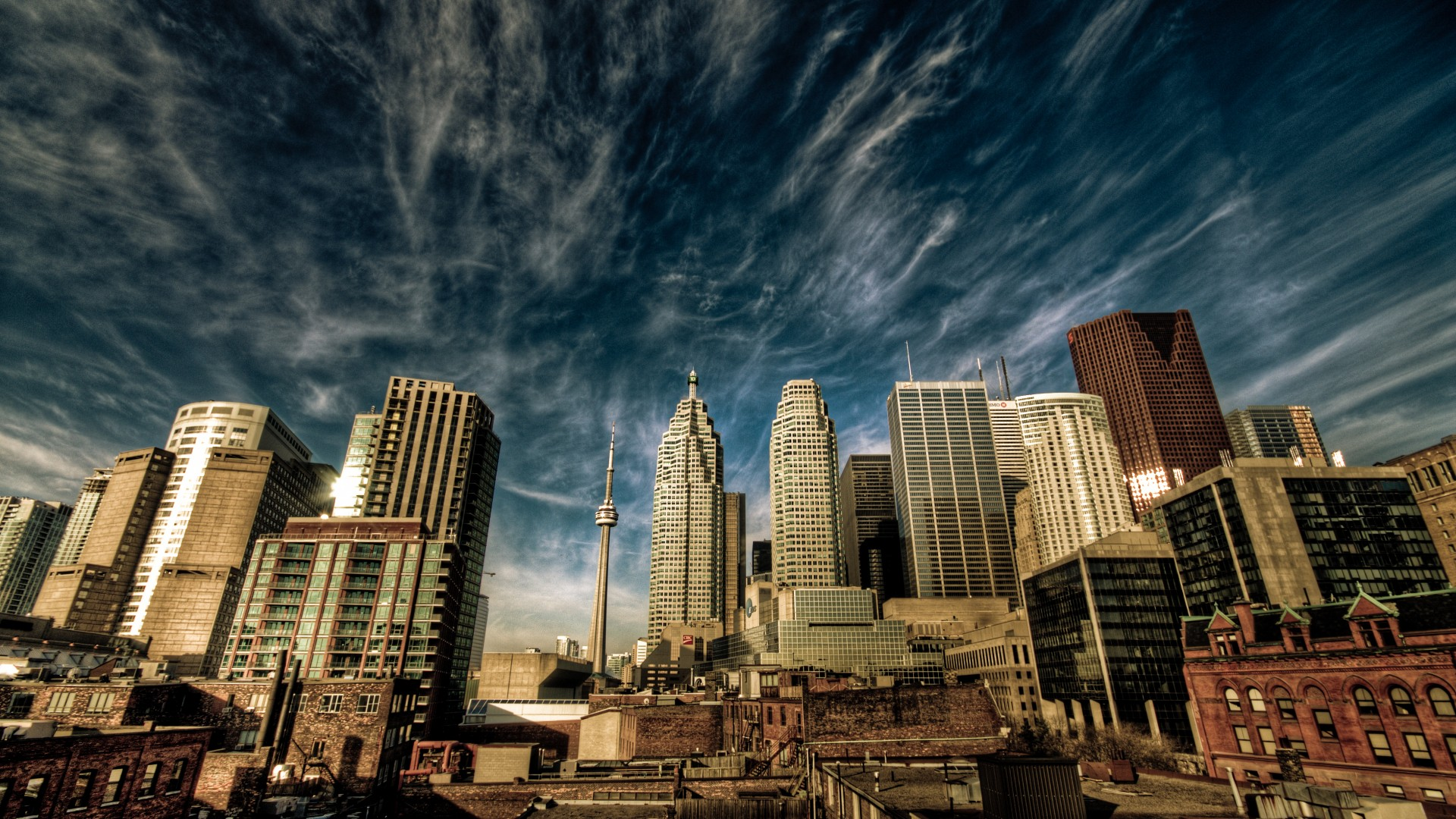 Toronto, Canada, downtown, sky, clouds, travel, vacation, booking (horizontal)