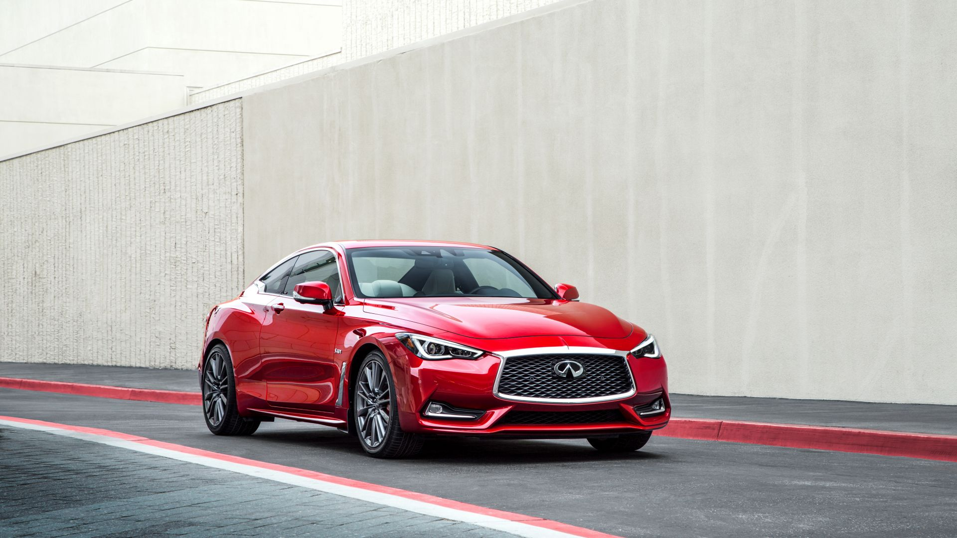 Infiniti Q60 Red Sport 400, coupe, red, sport (horizontal)